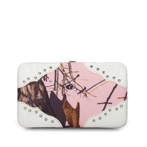 Licensed Mossy Oak Wallet PK/WHT