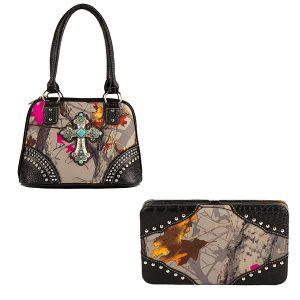 Hotleaf Camouflage Handbag & Wallet Combo VHL5