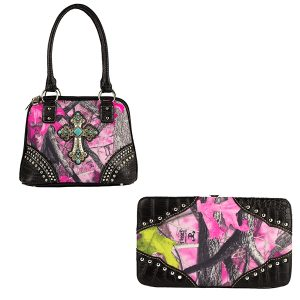 True Timber Sassy B Handbag & Wallet Combo VTT5
