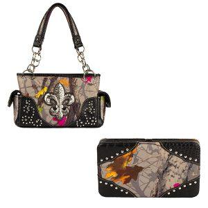Hotleaf Camouflage Handbag & Wallet Combo VHL10