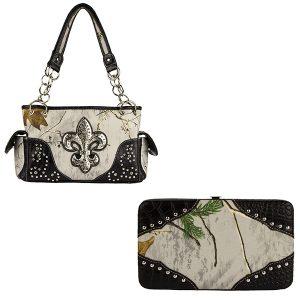 Realtree Camouflage Handbag & Wallet Combo VRT10 Glacier