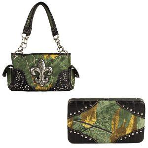 Realtree Camouflage Handbag & Wallet Combo VRT10 Green