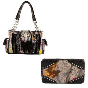 Hotleaf Camouflage Handbag & Wallet Combo VHL13
